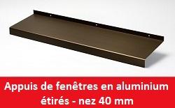 Les appuis de fen tre int rieurs et ext rieurs expowin for Appuis de fenetre aluminium